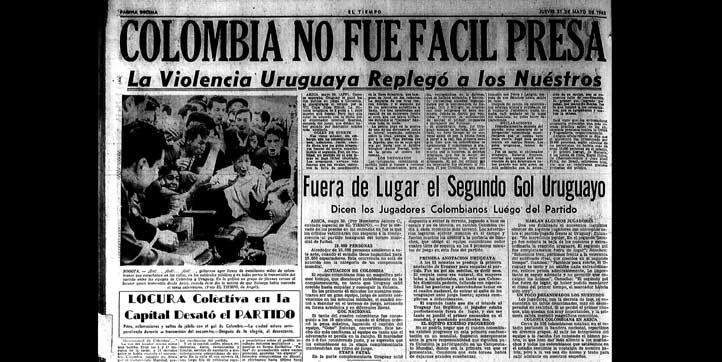 El jueves 31 de mayo, se registró la derrota de los colombianos 2-1 contra los 'charrúas'.