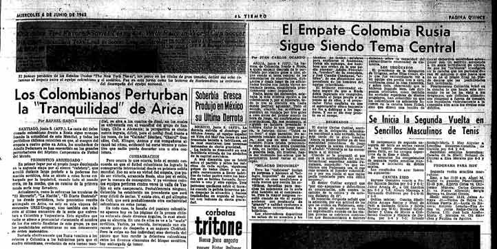 La fiesta en Arica por el 4-4 se mantenía. La publicación del 6 de junio así lo muestra.