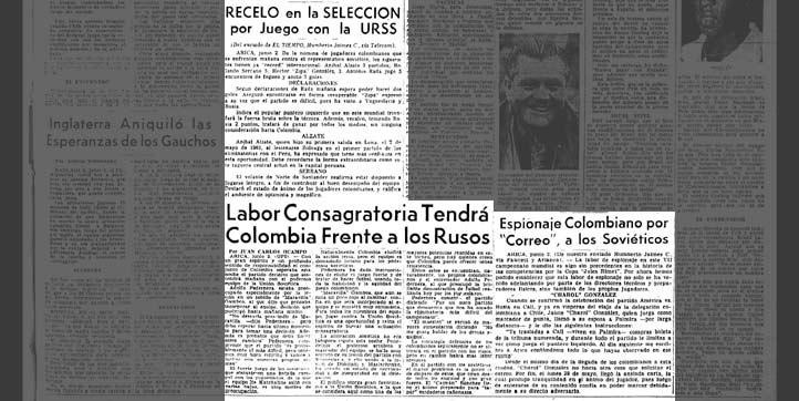 A un día del 4-4 contra la URSS, se destacó el récord internacional de los los colombianos Alzate, Serrano, González y Rada.
