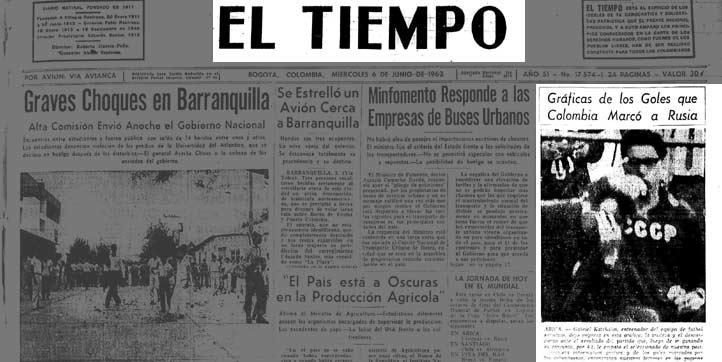 El 6 de junio, tres días después del 4-4, EL TIEMPO hizo la crónica gráfica.