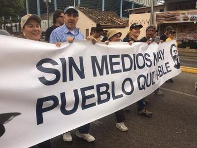 Desarrollo de la crisis en Venezuela por usuarios de redes sociales