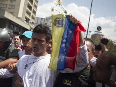 Leopoldo López se entregó a las autoridades venezolanas