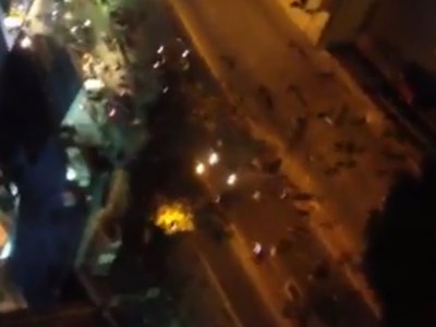 Video registra p�nico tras disturbios en Caracas