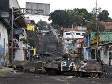 Ciudad cuna de protestas venezolanas permanece militarizada