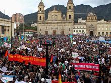 Movilizaciones en la Plaza de Bol�var por la destituci�n de Gustavo Petro