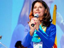 Marta L. Ramírez, candidata del partido Conservador a la Presidencia