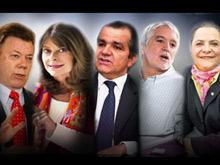 Santos, 24,4 %; Marta Lucía Ramírez, 7,7 % y Óscar Iván Zuluaga, 7,6 %