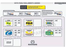 Seis partidos, en el tarjetón para el Parlamento Andino