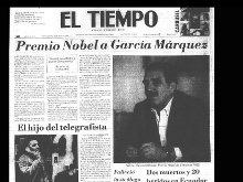 Así registraron los periódicos colombianos el Nobel de Gabriel García Márquez