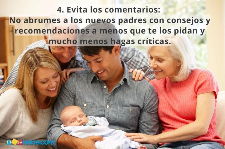 Decálogo para visitar a un recién nacido