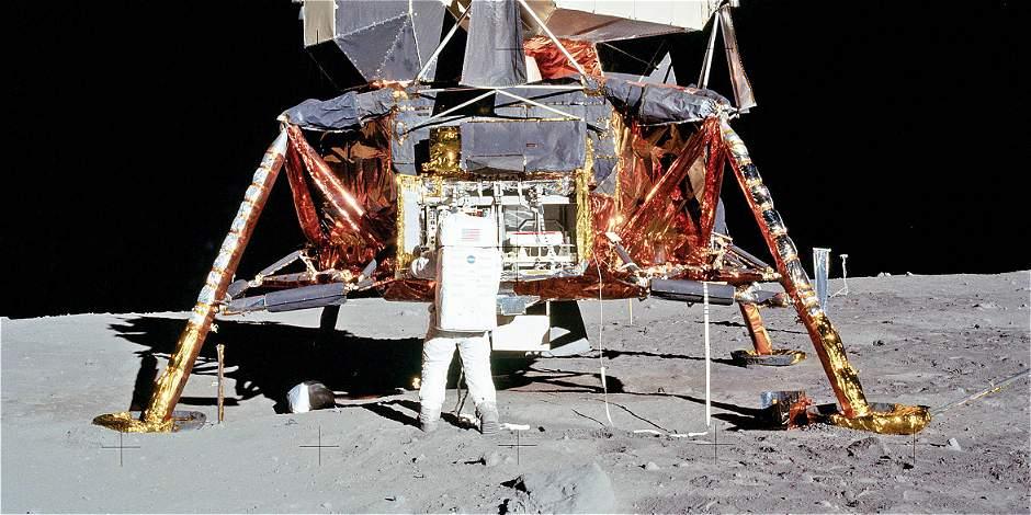El vuelo del águila: módulo lunar del Apolo 11