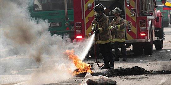 Disturbios en universidades públicas paralizaron Bogotá