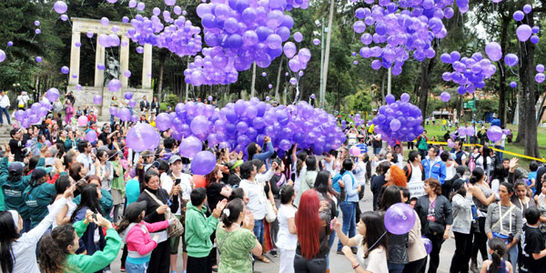 Multitudinario homenaje a Rosa Elvira Cely en Bogotá