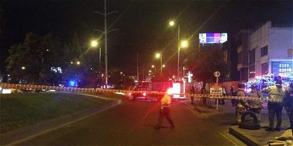 Estalla petardo frente a la estación de Transmilenio de Toberín en el norte de la ciudad.
