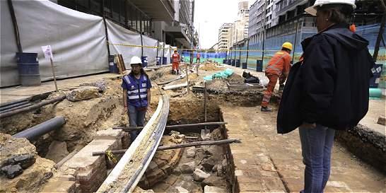 Hallazgos arqueológicos en la carrera 7.ª no retrasarán obras