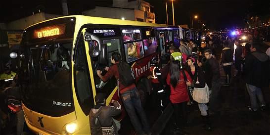 Más de 120 buses del SITP fueron atacados durante paro de transporte
