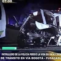 Accidente en vía Bogotá-Fusagasugá deja un policía muerto y 25 heridos