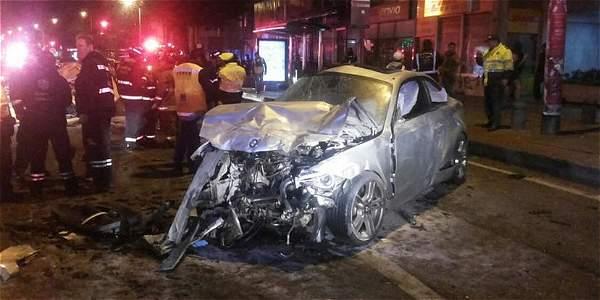 Así quedó el BMW manejado por Aníbal Tapias.