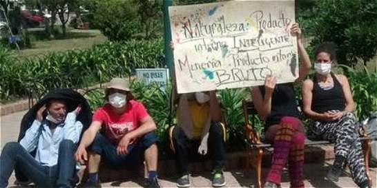 Reviven protesta contra cementera en Suesca