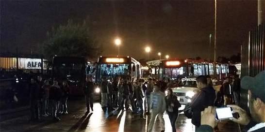 21 personas detenidas luego de manifestaciones en el Portal Usme