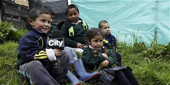 Niños de Usme rural son reporteros para contar el atraso que los rodea