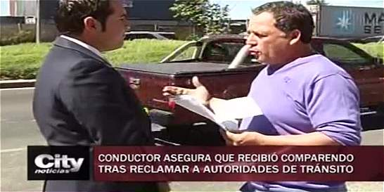 Hombre recibe comparendo por fotografíar infracción de una patrulla