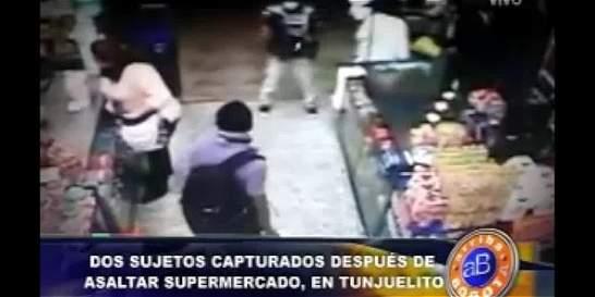 Capturadas dos personas que asaltaron supermercado en Tunjuelito