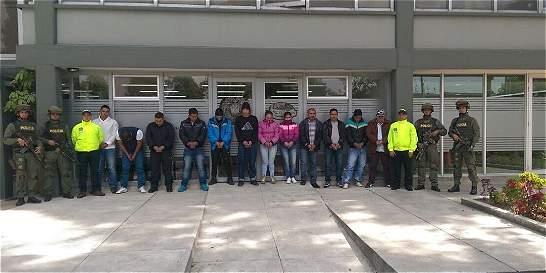 Cayó jefe de sicarios en Bogotá; 20 personas más capturadas