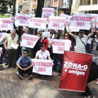Residentes de la zona G dicen que no quieren peatonalización