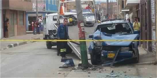 Cuatro personas heridas dejan seis accidentes en Bogotá