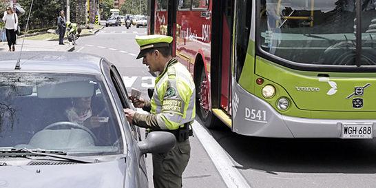 Caducarán 461.014 multas de conductores que hicieron conejo a Bogotá