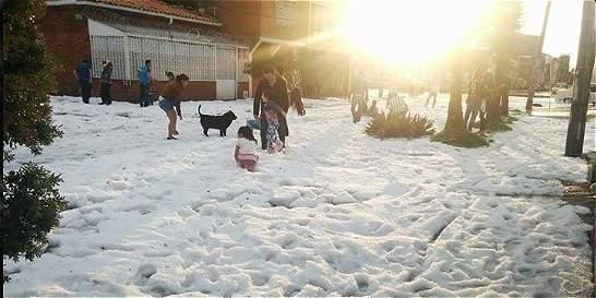 150 viviendas resultaron afectadas por granizada en el sur de Bogotá