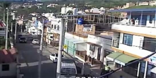 Video: en medio de fuerte balacera, caen dos fleteros en Fusagasugá