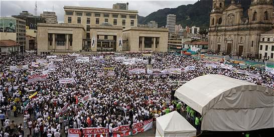 Por aprobación de Ley Anticontrabando comerciantes marcharon en Bogotá
