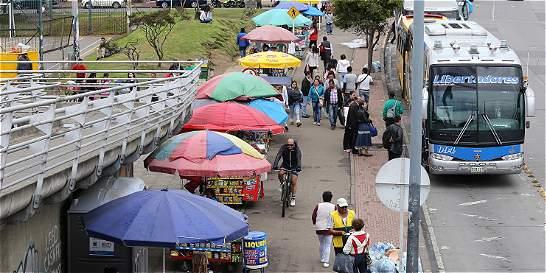 Ventas ambulantes invadieron el norte de Bogotá