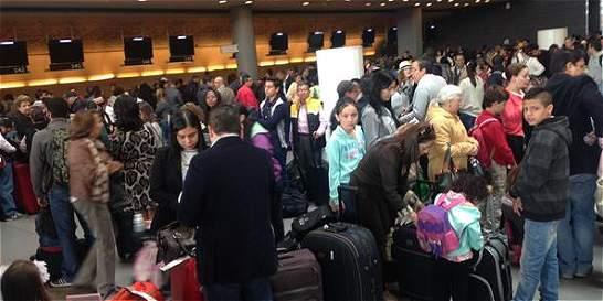 El aeropuerto internacional El Dorado se quedó sin energía