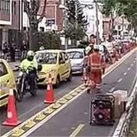 Conductores rechazaron el nuevo bicicarril