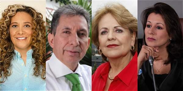 De izq a der. Lucia Bastidas, Jairo Cardozo Mira, María Victoria Vargas Silva y Olga Victoria Rubio.