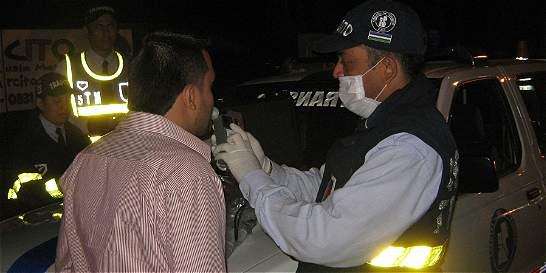 Este año han sorprendido a 2.677 conductores borrachos en Bogotá