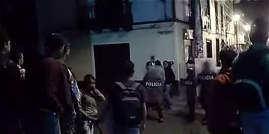 Disturbios en Facatativá por falta de agua