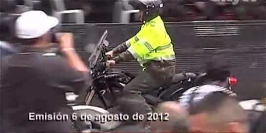 Hasta con tubos de PVC policías adecúan motos eléctricas en Bogotá