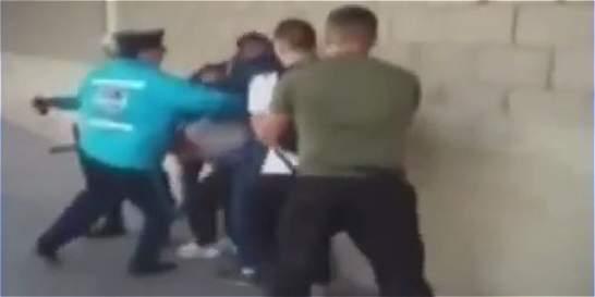 En video quedó registrado agresión a presunto ladrón en Suba