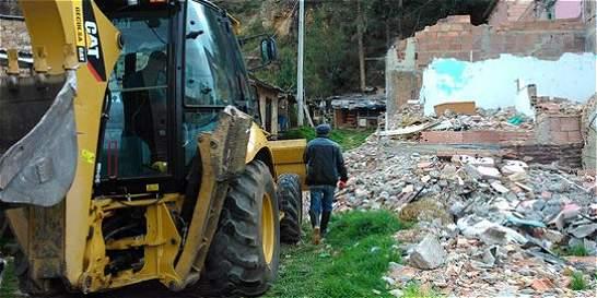 Más de 300 metros cuadrados de cerro fueron recuperados en Usaquén