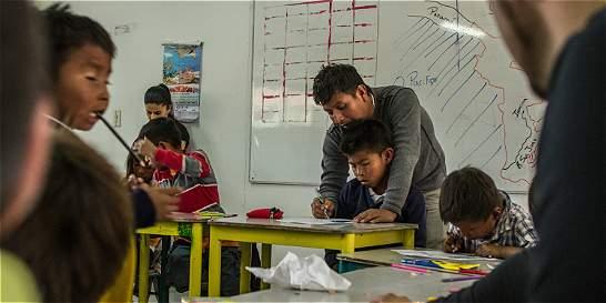 El colegio que acoge a desplazados del pueblo wounaan