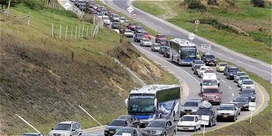En este puente festivo entrarán 150.000 carros a Bogotá