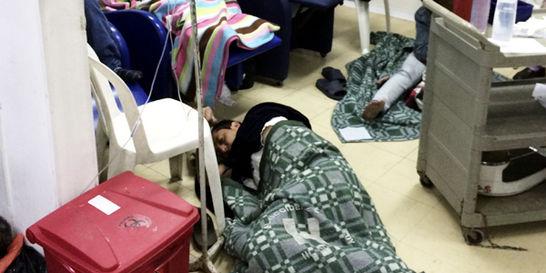 Hacinamiento se toma las salas de urgencia de hospitales de Bogotá