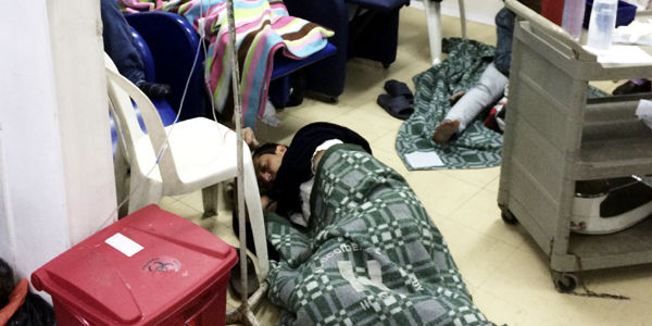 Imágenes como esta han sido captadas por la Personería en sus visitas a urgencias.
