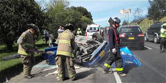Accidente en el norte de Bogotá deja cinco heridos