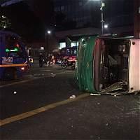 El accidente se presentó hacia las 5 de la mañana.