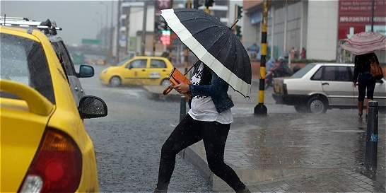 Se registraron lluvias en el oriente de Bogotá